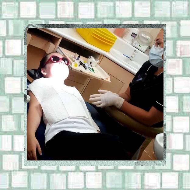 waiting for child dentist