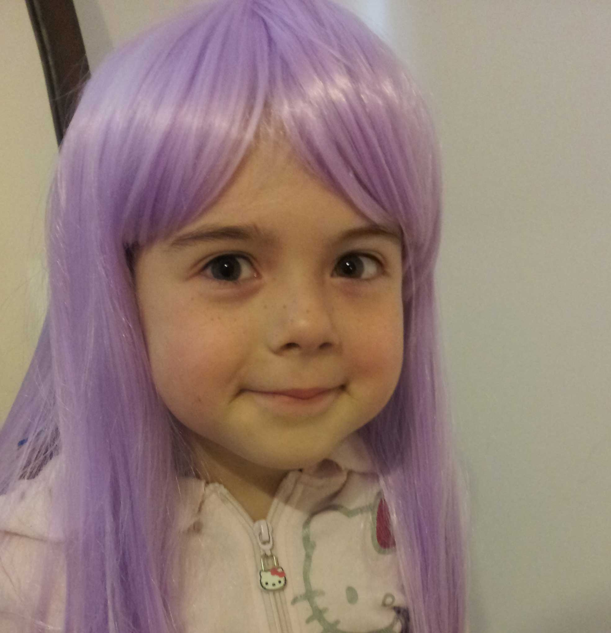 Tookii things to do with kids in purple wig one of the activities for kids