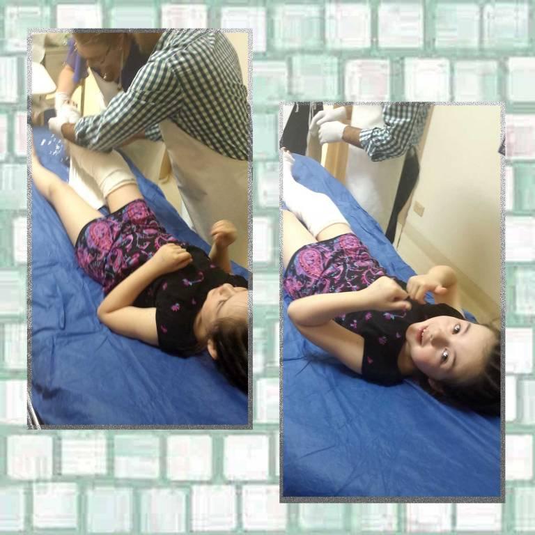 Tookii in hospital