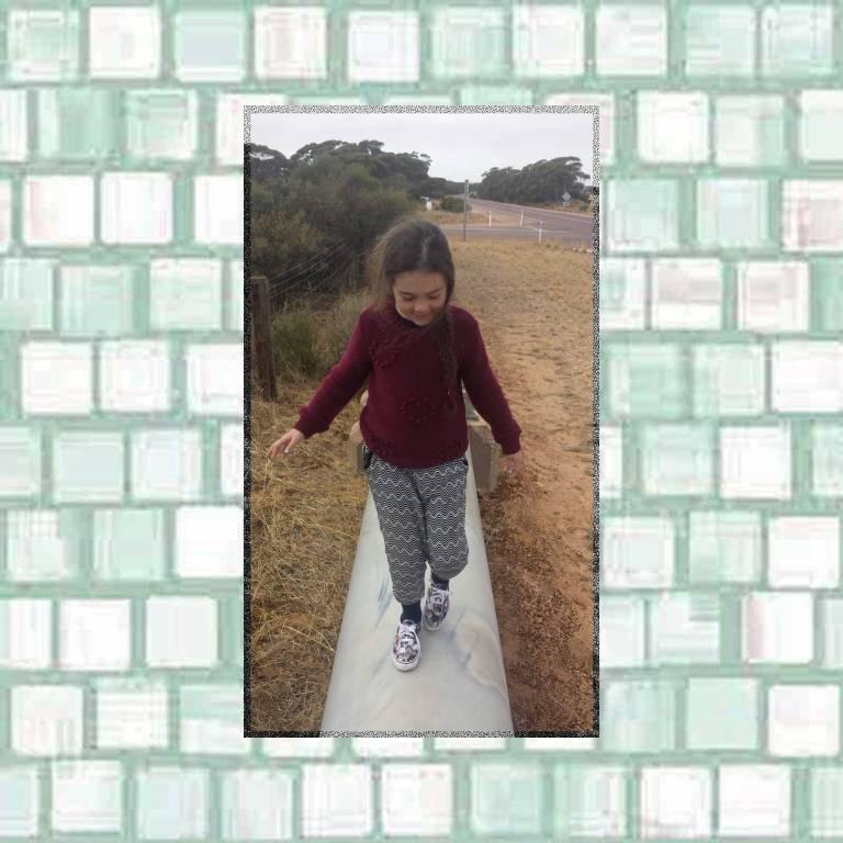 Tookii walking the water pipe