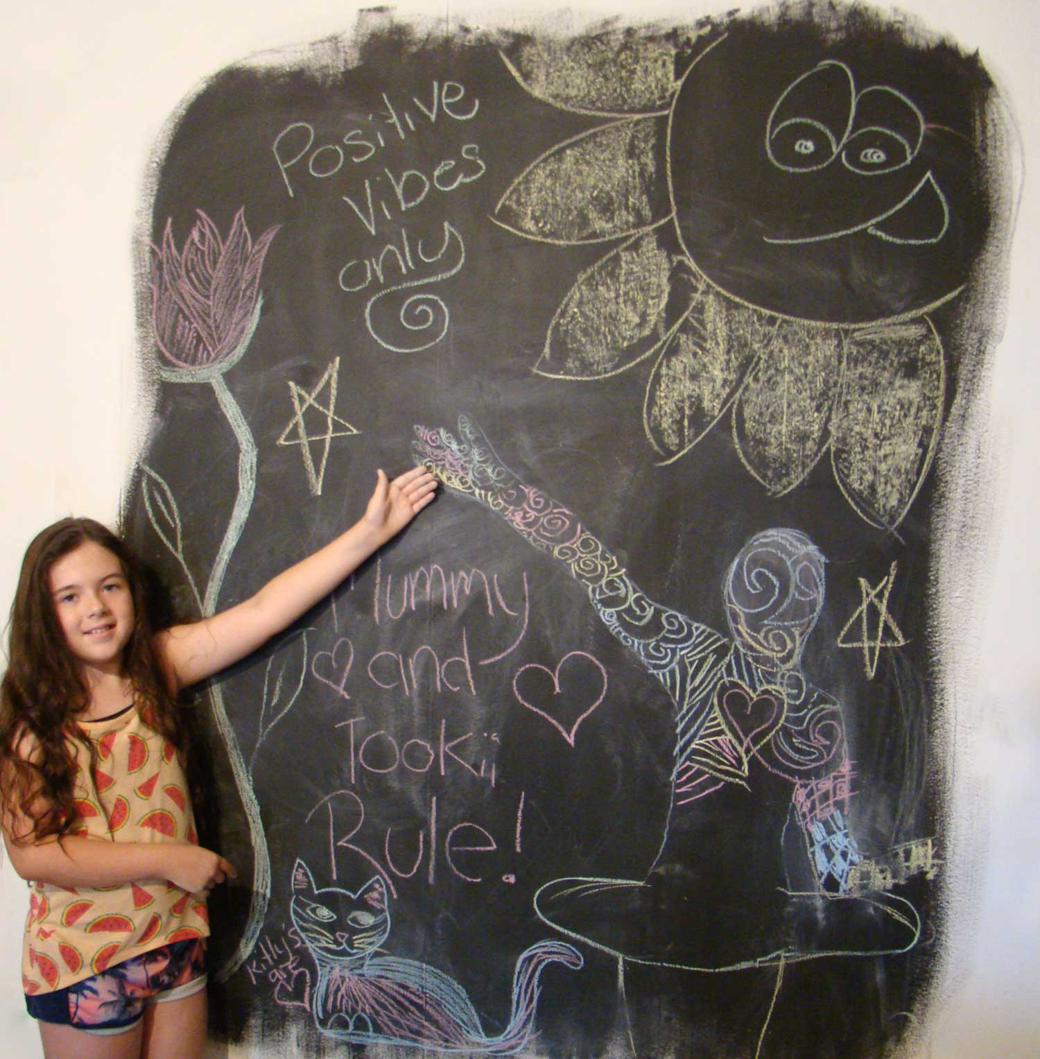 Tookii things to do with kids blackboard one of the activities for kids