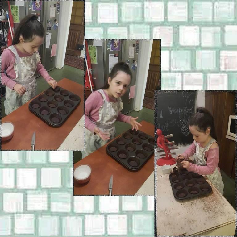 Tookii making cupcakes