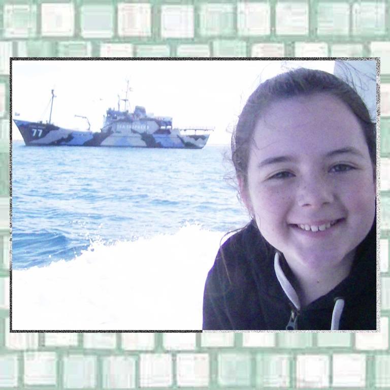 Tookii and Sea Shepherd ship