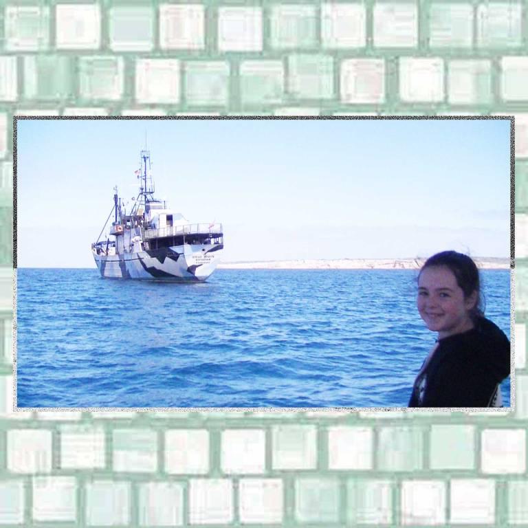 Tookii and Sea Shepherd ship Steve Irwin