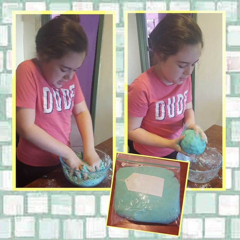 making play dough