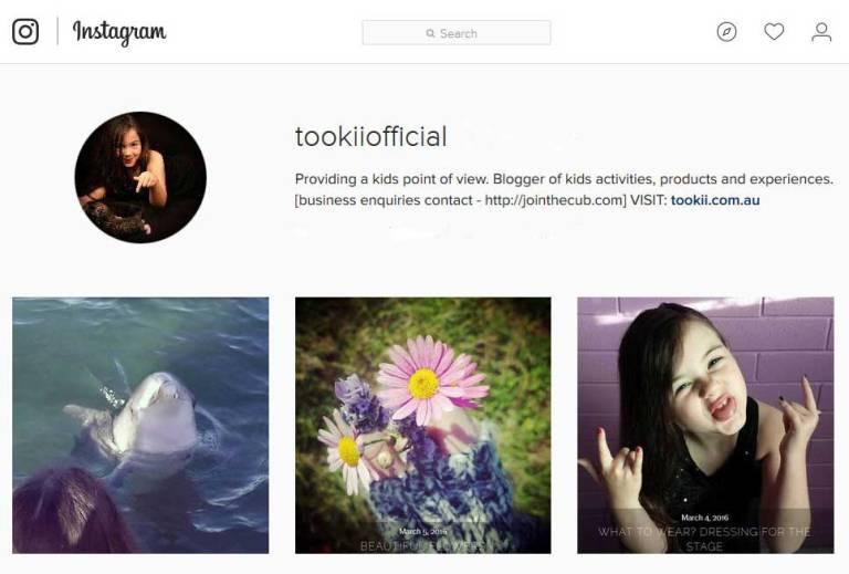 Tookii Instagram profile