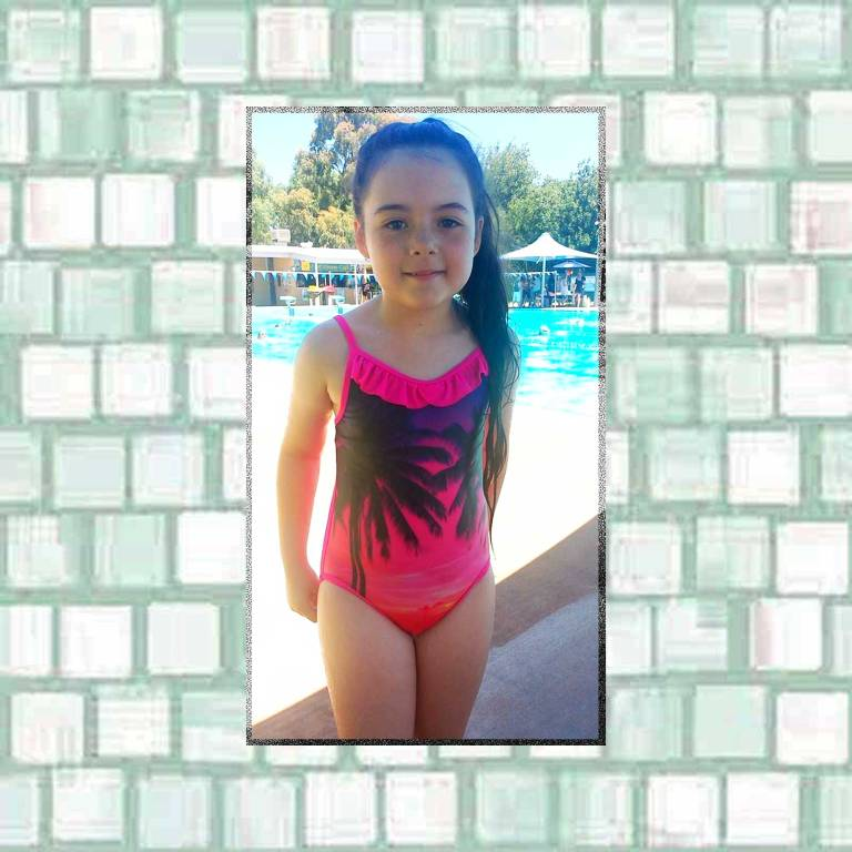 Tookii at the pool