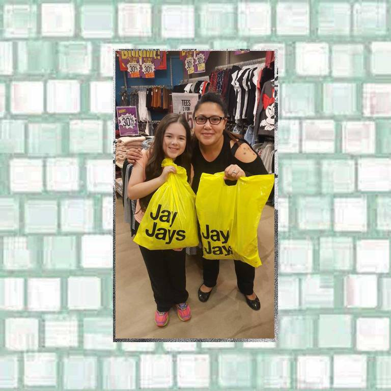 Tookii shopping in Jay Jay's Whyalla