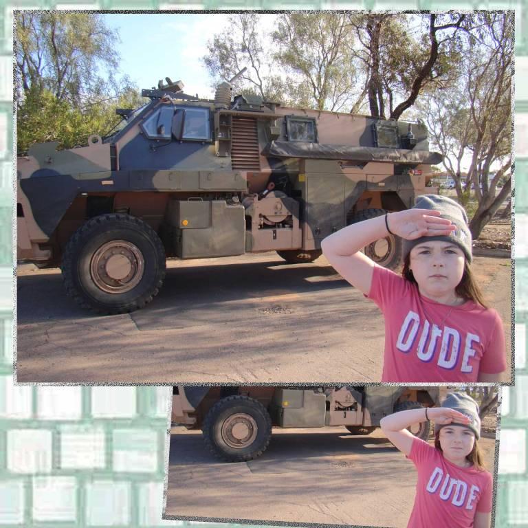 Tookii salutes army
