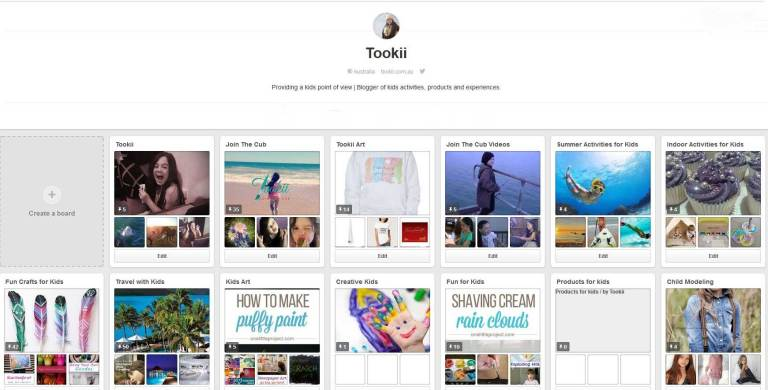 Tookiis Pinterest Profile