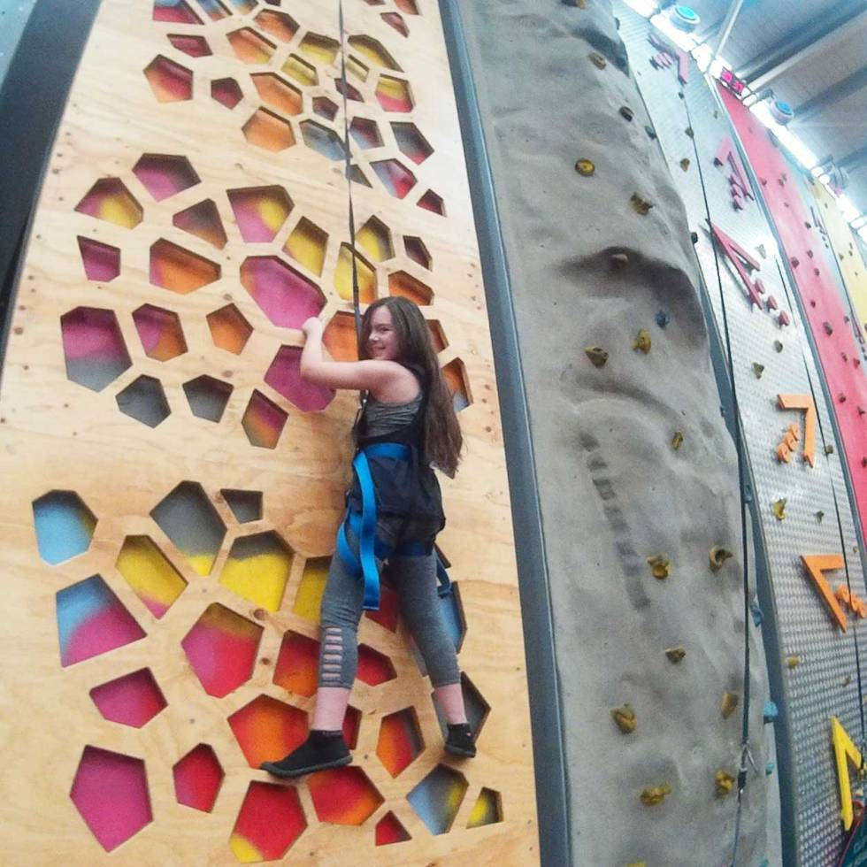 Tookii things to do with kids rock climbing wall