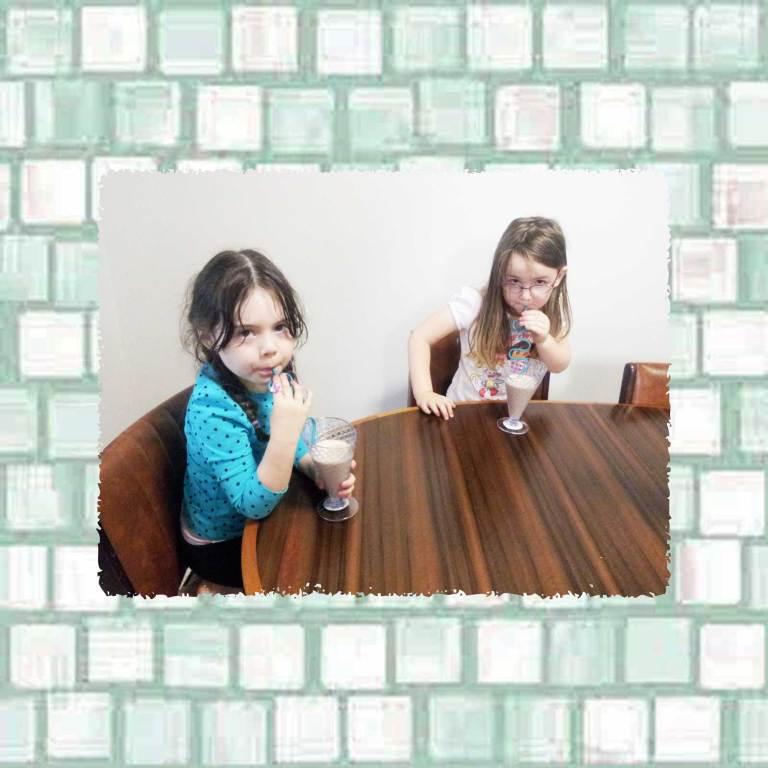 Tookii things to do with kids friends drinking chocolate milkshakes